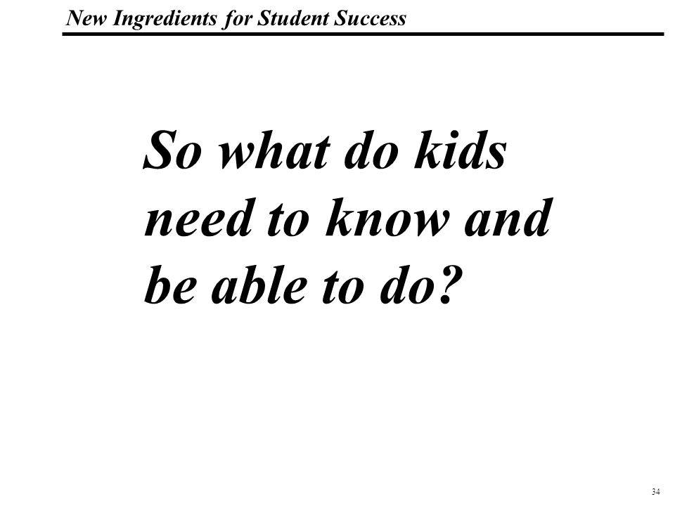 35 108319_Macros New Ingredients for Student Success SCANS Workplace Know-How (1991) Competencies – effective workers can productively use: Resources -- identifying, organizing, planning, and allocating time, money, materials, and workers; Interpersonal Skills -- negotiating, exercising leadership, working with diversity, teaching others new skills, serving clients and customers, and participating as a team member; Information Skills -- using computers to process information and acquiring and evaluating, organizing and maintaining, and interpreting and communicating information; Systems Skills -- understanding systems, monitoring and correcting system performance, and improving and designing systems; and Technology utilization skills -- selecting technology, applying technology to a task, and maintaining and troubleshooting technology.