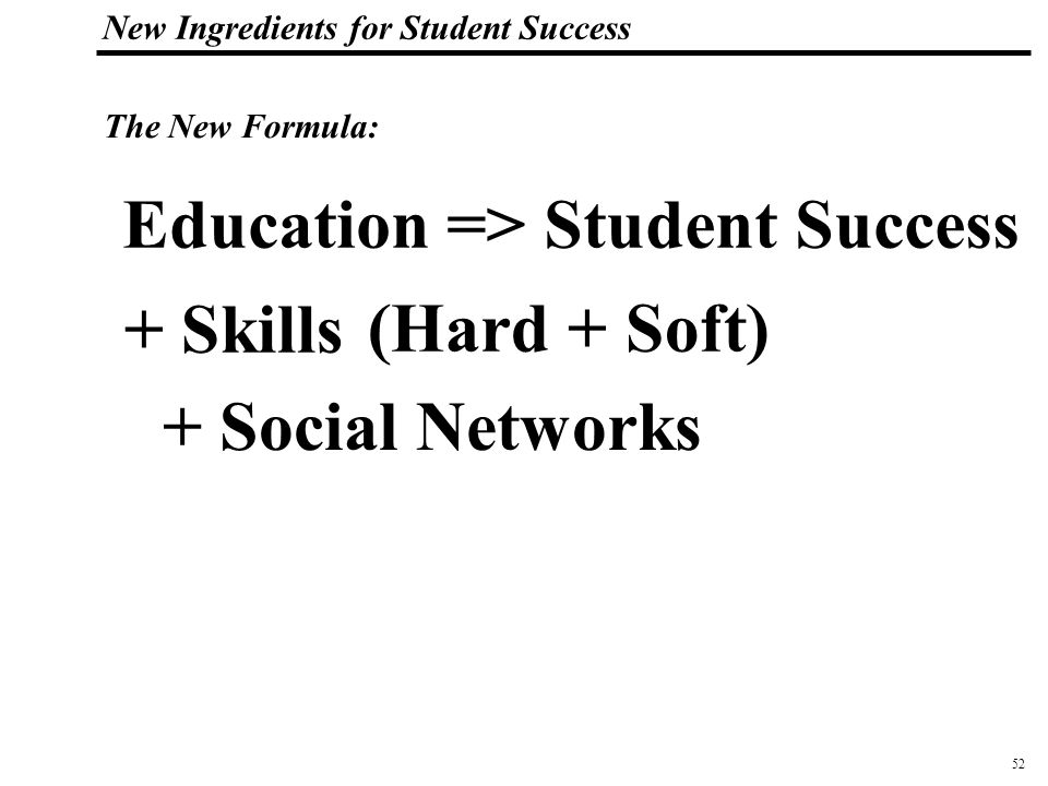 53 108319_Macros New Ingredients for Student Success So how do you enhance a student's social network?