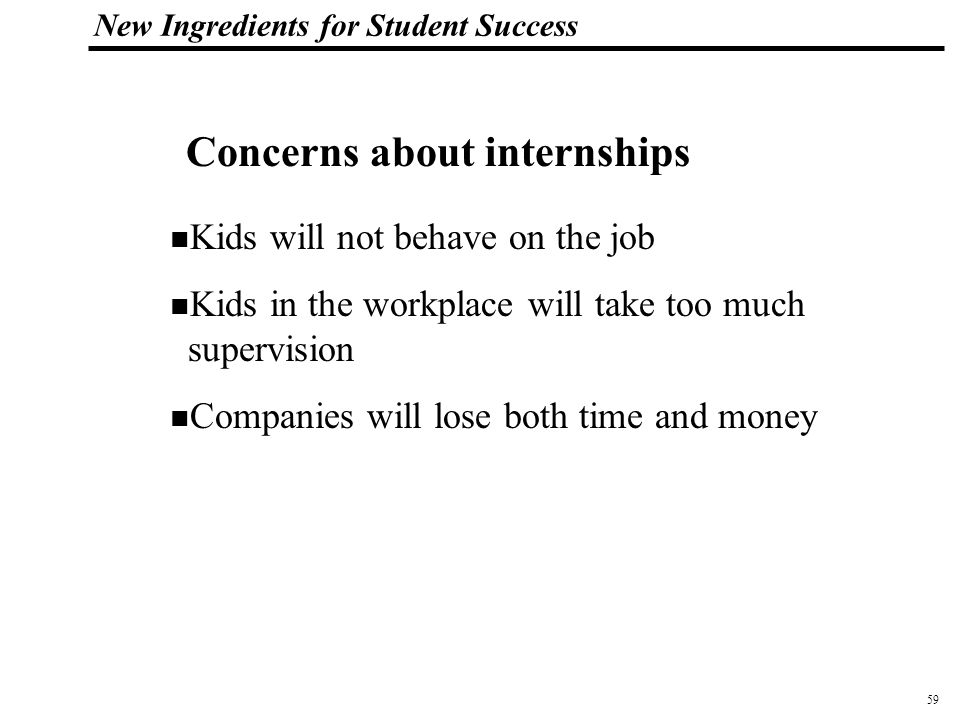 60 108319_Macros New Ingredients for Student Success 400+ full-time high school interns since 1993 Up to 50 annually Company, maker of AutoCAD, employs 1800 in Marin County, California Win-Win for students and the company