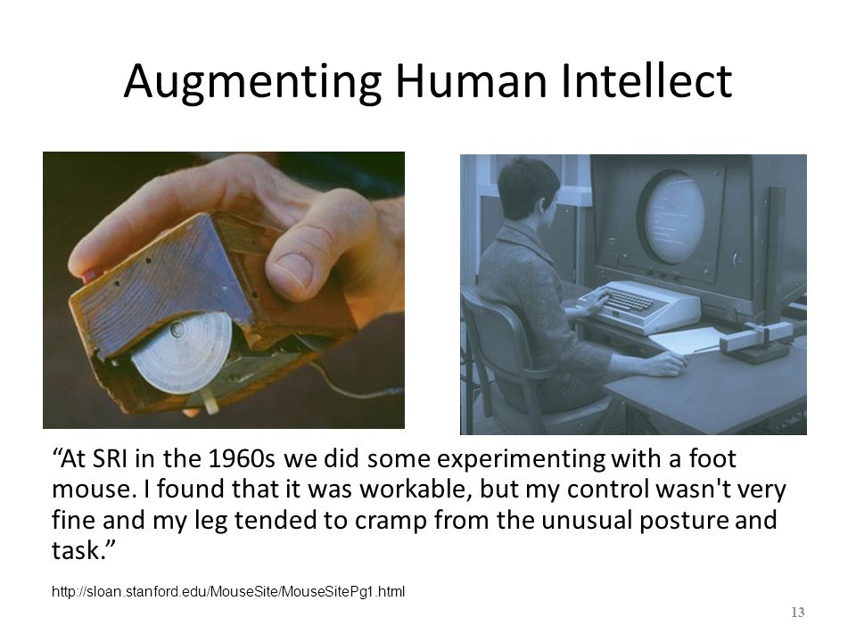 Augmenting Human Intellect 14 Chorded Keyboard Early 3-button mouse