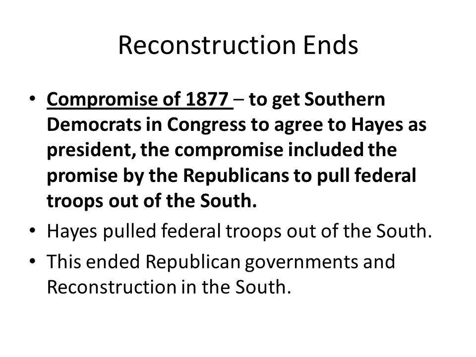 A New South Arises Many Southern leaders realized the South could never return to the pre-Civil War agricultural economy dominated by the planter elite.