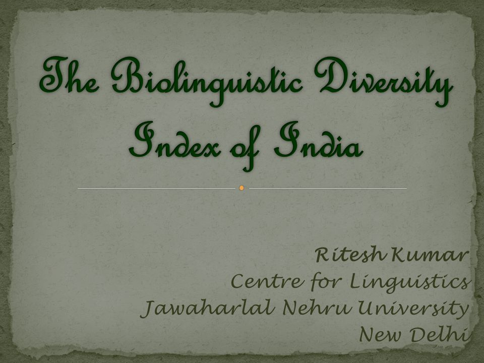 The Biolinguistic diversity is a subset of Biocultural diversity which unifies the diversity of life in all of its manifestations: biological, cultural, and linguistic.