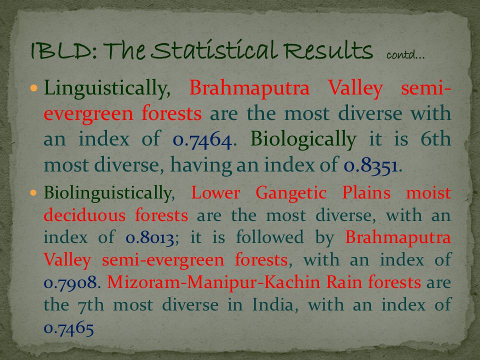 The Spearman's rank correlation coefficient shows some sort of correlation between the biological and linguistic diversity.
