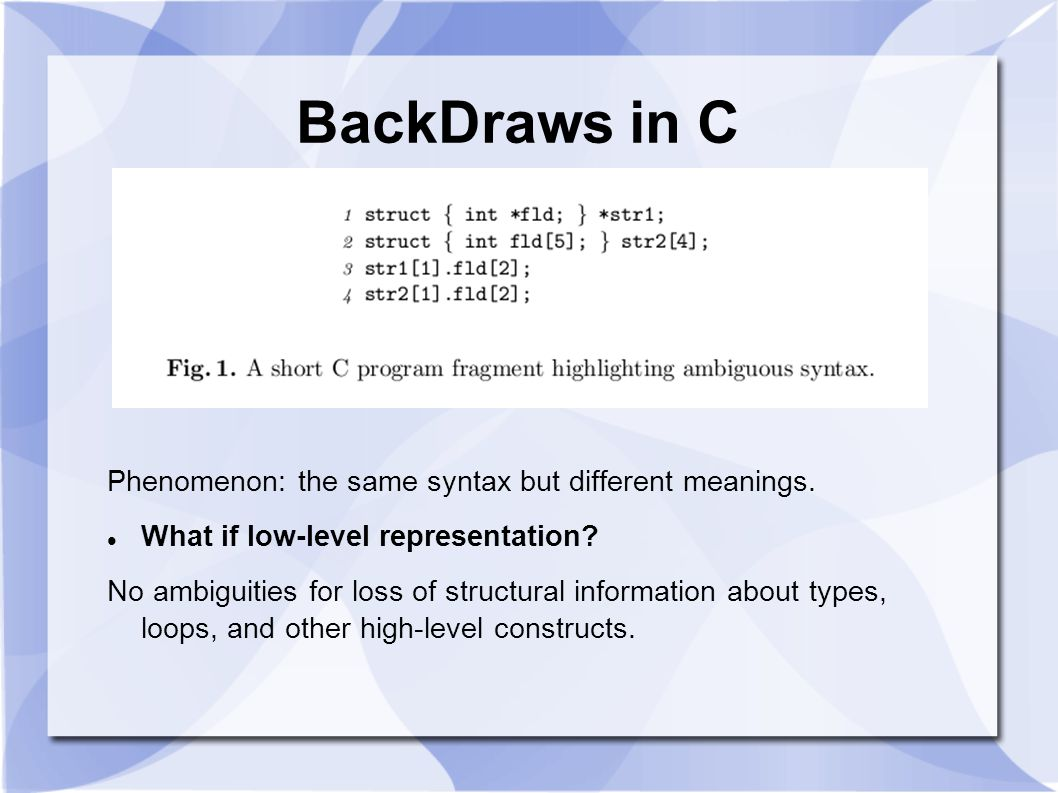 3 rd OVERVIEW CIL CIL is both lower-level than abstract-syntax trees, by clarifying ambiguous constructs and removing redundant ones, and also higher-level than typical intermediate languages designed for compilation, by maintaining types and a close relationship with the source program.
