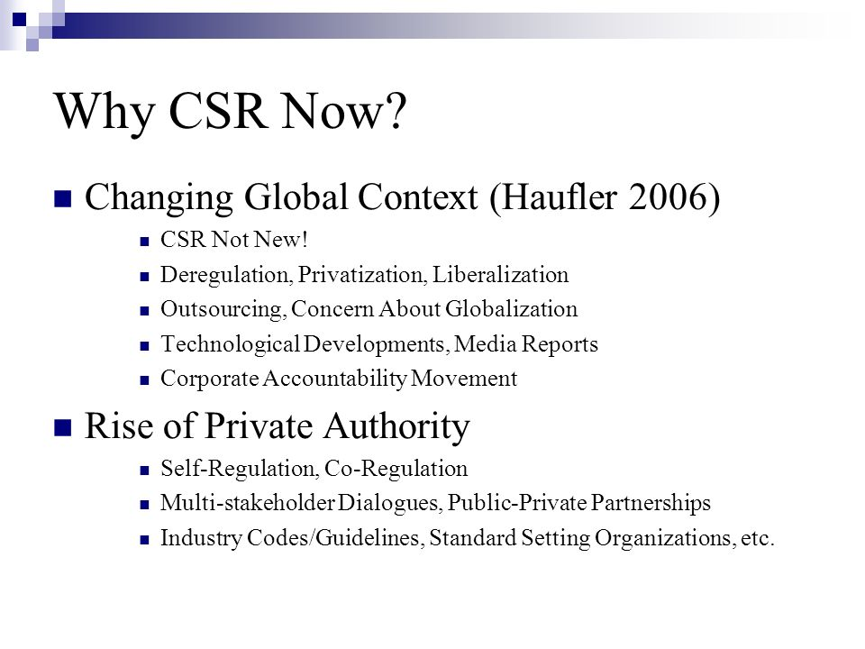 What is CSR.