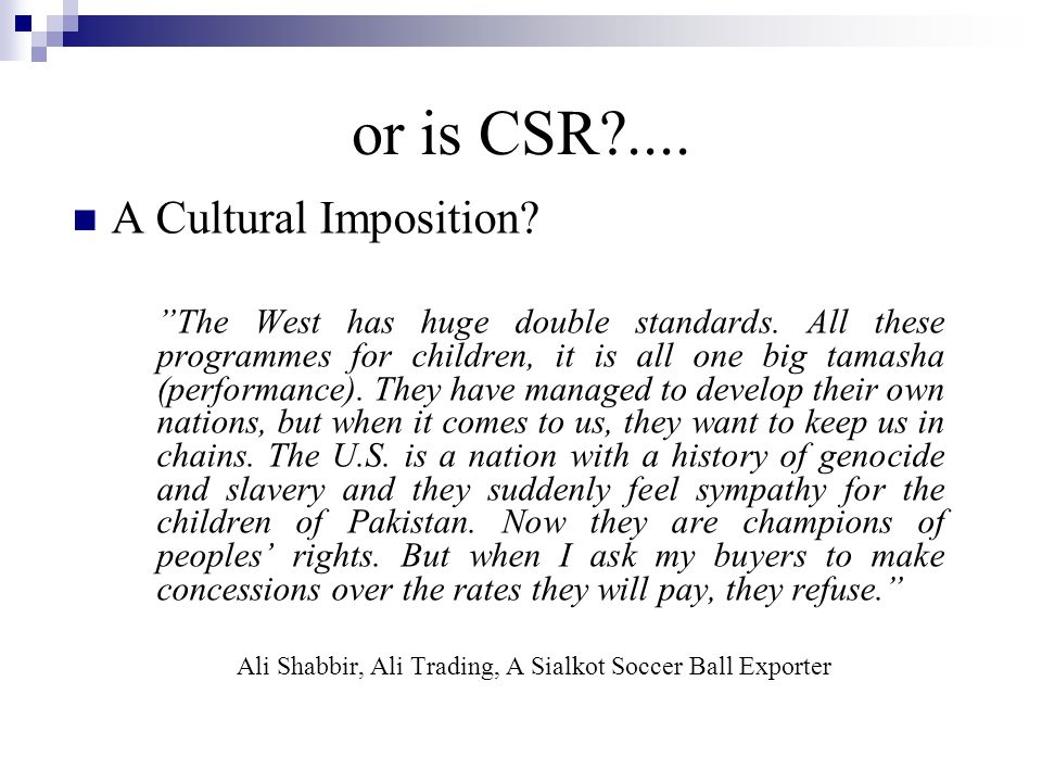 Why Engage in CSR.