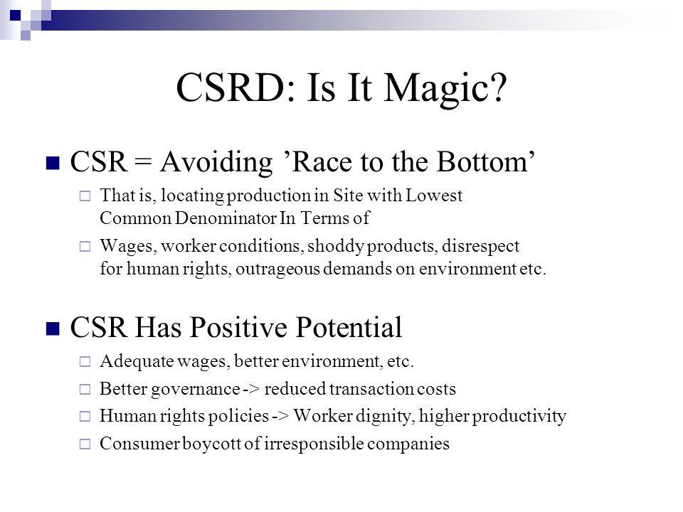 CSRD: Is It Myth.
