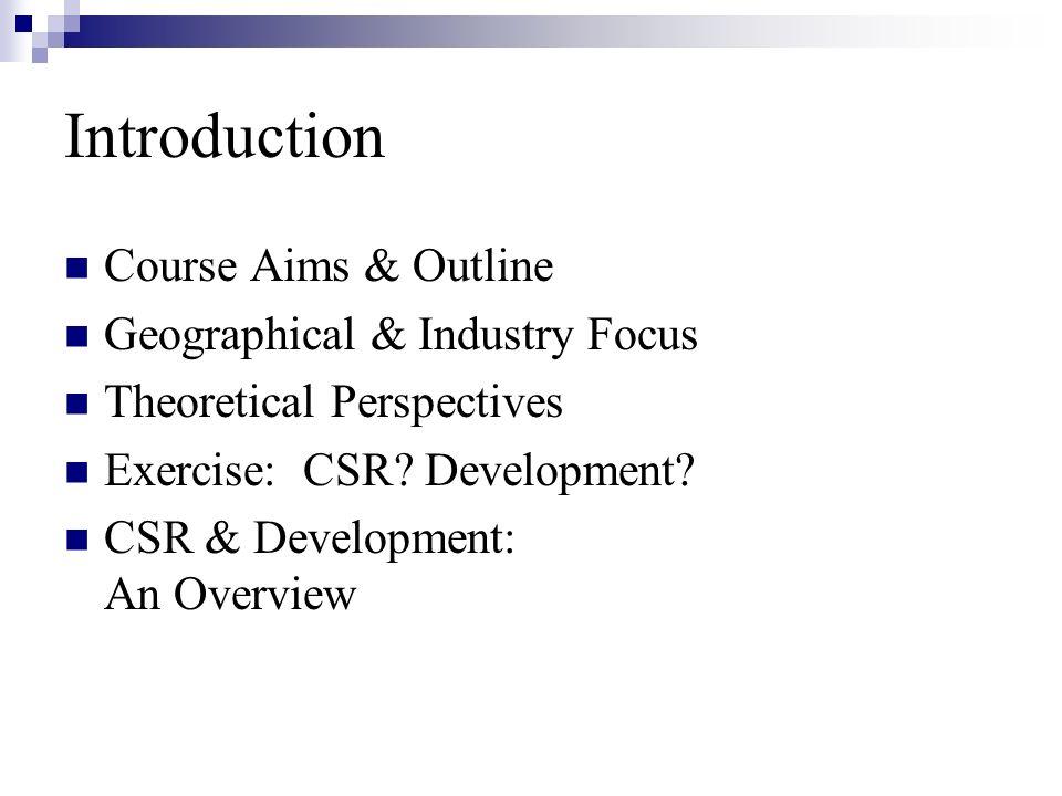 Introduction Associate Professor, CBDS & CSR, CBS Ph.D.