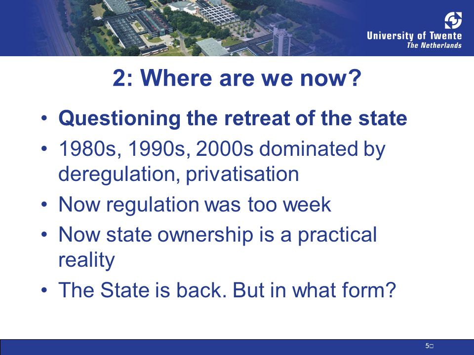 6 3: Return of the State, Mark I State intervention as emergency measure State as lender of last resort As shareholder/owner of last resort As provider of fiscal stimulus / money to boost consumption How does intervention differ by country?