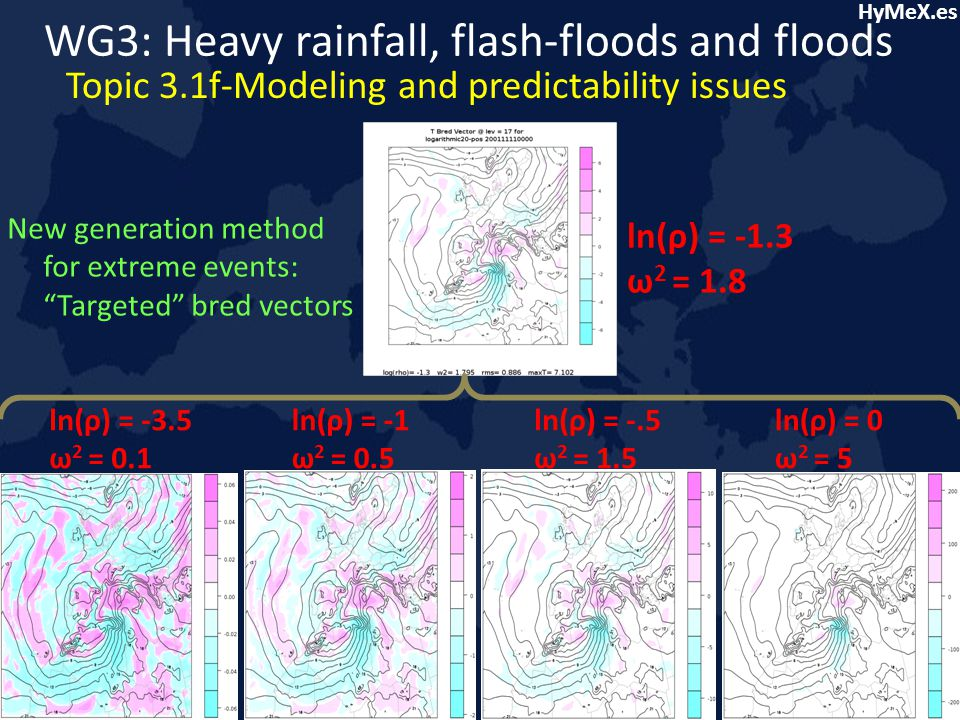 HyMeX.es WG3: Heavy rainfall, flash-floods and floods Topic 3.1f-Modeling and predictability issues