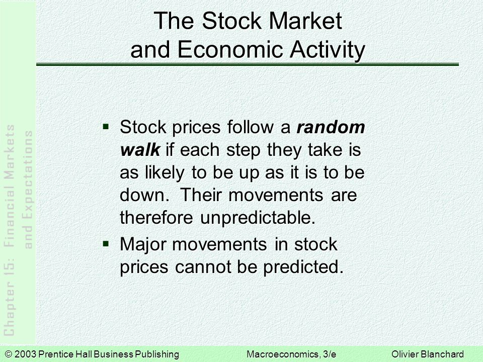 © 2003 Prentice Hall Business PublishingMacroeconomics, 3/e Olivier Blanchard A Monetary Expansion and the Stock Market An Expansionary Monetary Policy and the Stock Market A monetary expansion decreases the interest rate and increases output.
