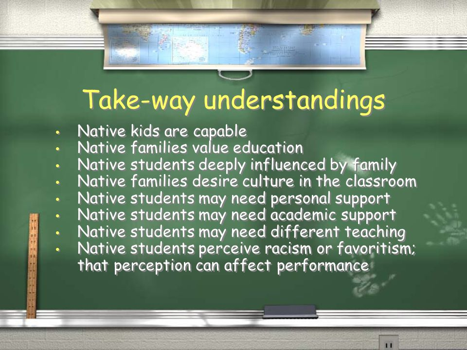 Culture matters - especially classroom culture Absolutely maintain and deliberately exhibit a culture of HIGH REGARD and HIGH EXPECTATIONS Absolutely maintain and deliberately exhibit a culture of HIGH REGARD and HIGH EXPECTATIONS