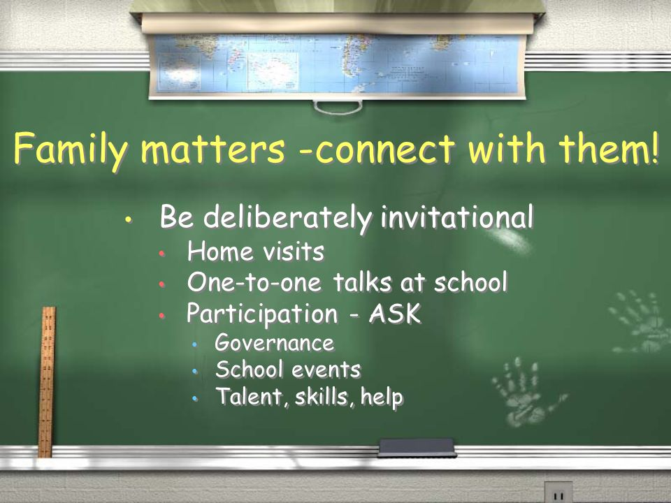 Family matters - accommodate it Check your systems: are entitled students getting preference.