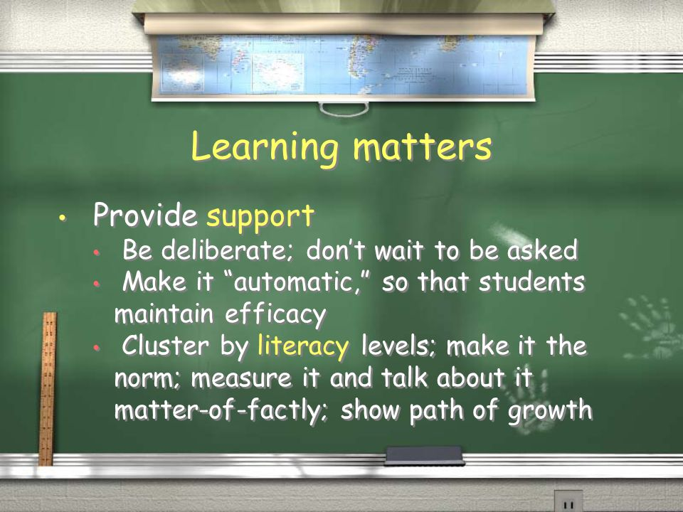 Learning matters Teach students how to do school Why attendance is important in life The value of a diploma What theyre being measured on and what that looks like in the classroom Purpose of institutional etiquette Teach students how to do school Why attendance is important in life The value of a diploma What theyre being measured on and what that looks like in the classroom Purpose of institutional etiquette