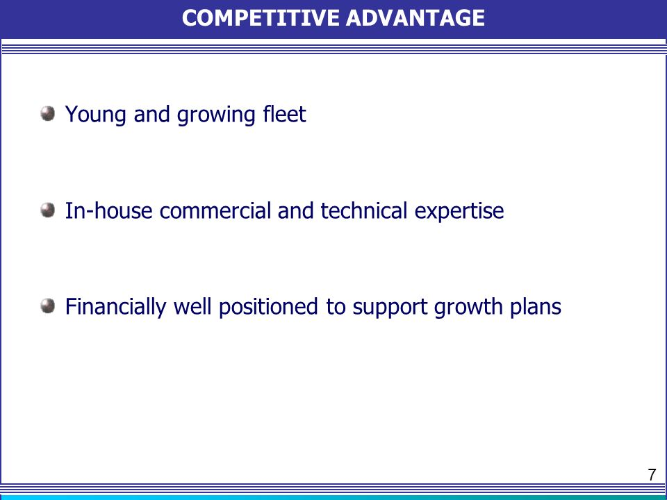 Strong Cash Position & Generation Sustainable Profitability Access to competitive financing Low leveraged Consistent Dividends Payout FINANCIALLY STRONG 8