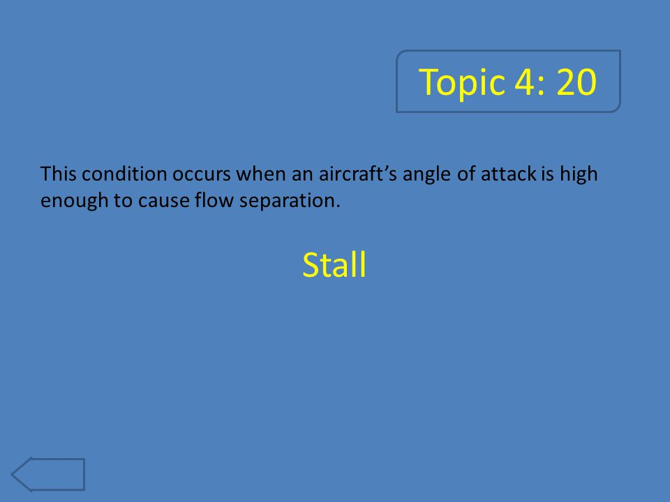 Topic 4: 25 This is the speed that the aircraft senses. Airspeed