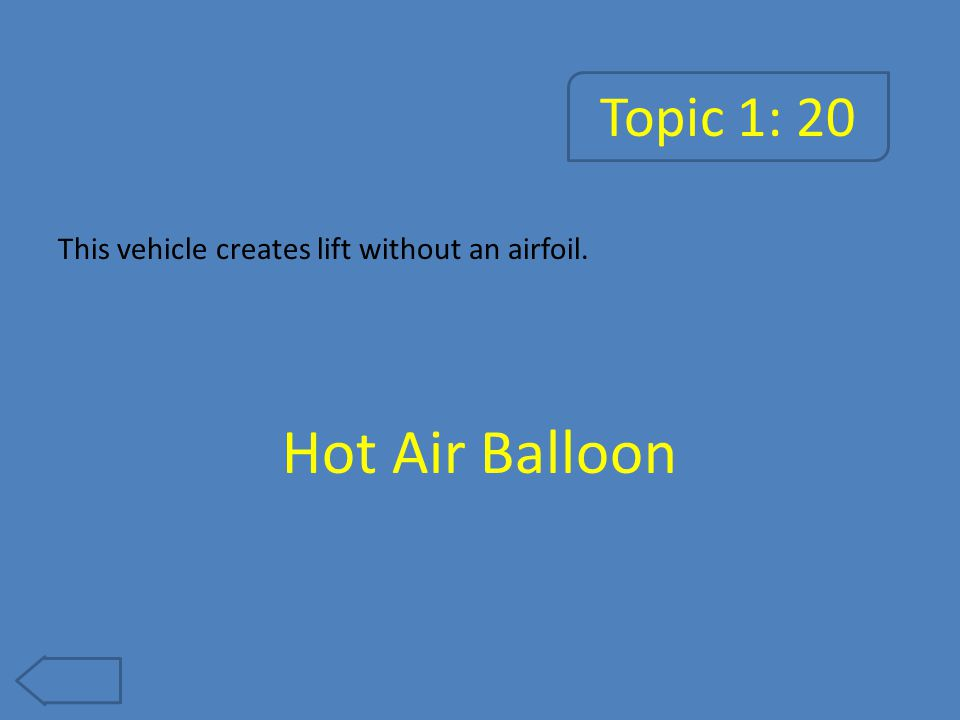 Topic 1: 25 This type of aircraft does not carry passengers or has a pilot onboard. UAV