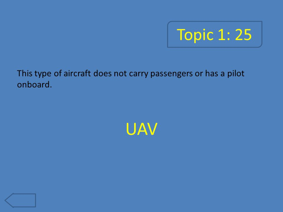 Topic 2: 5 This instrument is used to determine a plane's height above ground. Altimeter