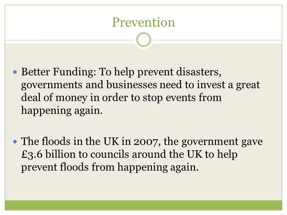 Class Activity How could you help to prevent flooding in the UK and reduce its effects on communities.