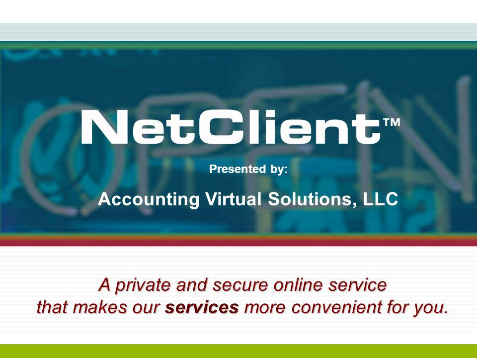 Accounting Virtual Solutions, LLC Youre busy.