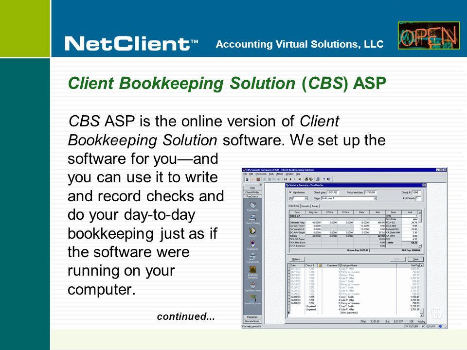 Accounting Virtual Solutions, LLC CBS ASP, cont.