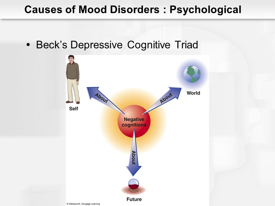 Cognitive Theory of Depression (Beck) Negative schemas Automatic thoughts Treatment implications Correcting the errors