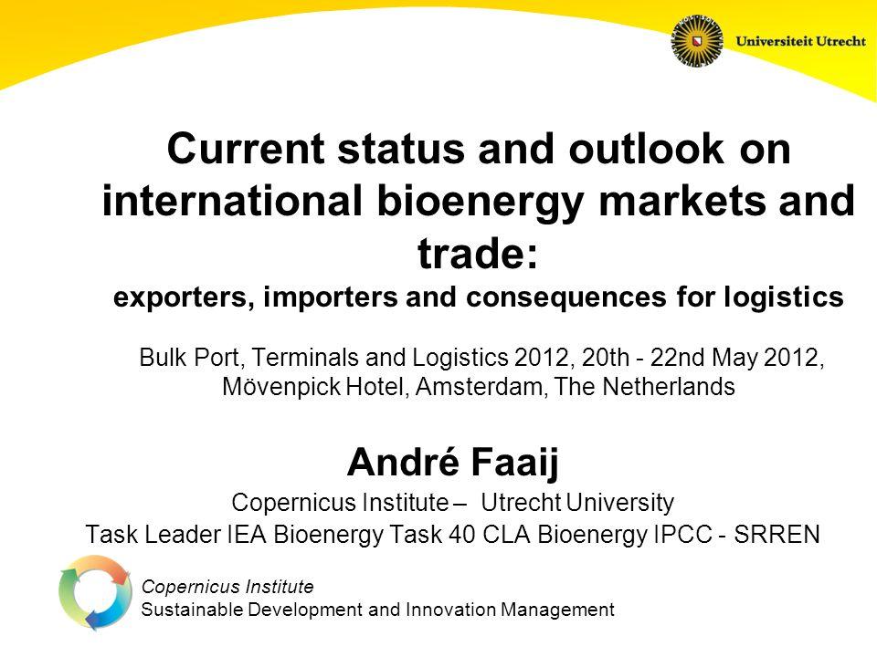 Copernicus Institute Sustainable Development and Innovation Management Biomass & bioenergy flows according to IEA + other refs (2008) [IPCC- SRREN, 2011]