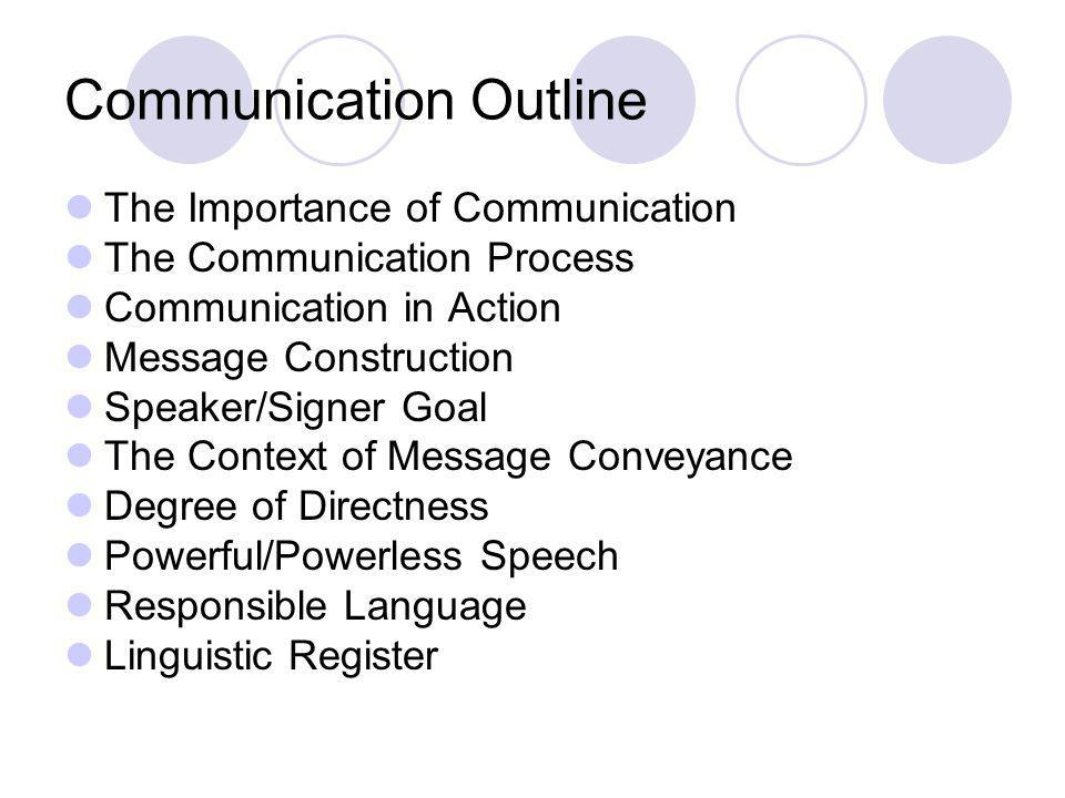 The Importance of Communication Why is communication important.