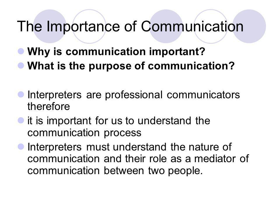 The Communication Process How do we communicate.