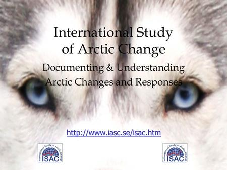 International Study of Arctic Change Documenting & Understanding Arctic Changes and Responses