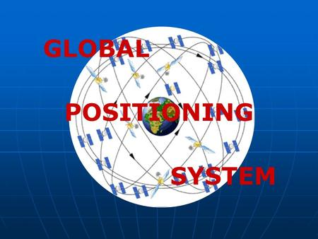 GLOBAL POSITIONING SYSTEM. IMPORTANT TERMS Azimuth - angular measurement in a circular (clockwise) direction. Azimuth - angular measurement in a circular.