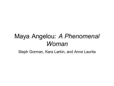 an analysis of maya angelou born under the name marguerite johnson Maya angelou was born as marguerite johnson on  angelou hid her dirty underwear under the  (taylor, judith) she changed her name to maya angelou after her.