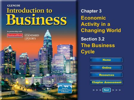 Chapter 3 Economic Activity in a Changing World Section 3.2 The Business Cycle.