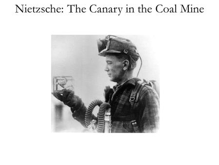 Nietzsche: The Canary in the Coal Mine. Nietzsche: Life and Influences Friedrich Nietzsche (1844-1900) Some early influences: Lutheranism Friedrich Ritschl.