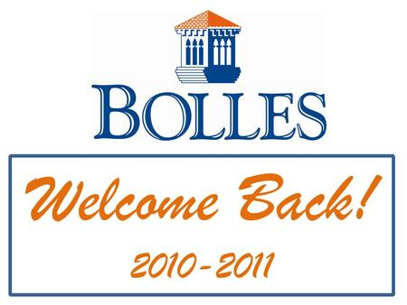 Welcome Back! 2010-2011. 212 Degrees! It's that simple!