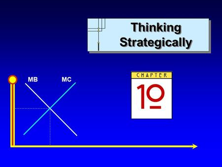 MBMC Thinking Strategically. MBMC Copyright c 2004 by The McGraw-Hill Companies, Inc. All rights reserved. Chapter 10: Thinking Strategically Slide 2.