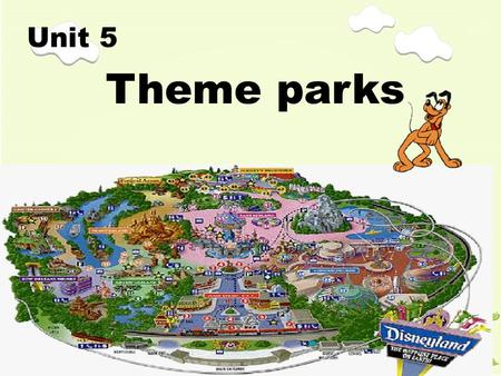 Theme parks Unit 5. Look at the following pictures about some world parks. Do you know their names?