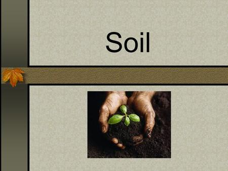 Soil. Mechanical and chemical weathering of rocks form soil. Soil covers much of the land on Earth. It is made up of minerals, air, water, and organic.