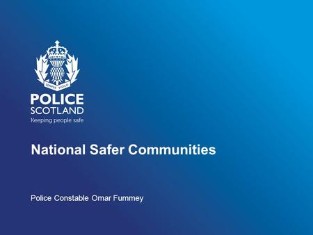 National Safer Communities Police Constable Omar Fummey.