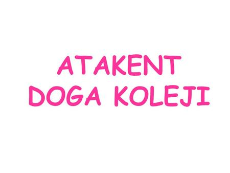 ATAKENT DOGA KOLEJI. Atakent Doga High School was founded in 2008 and began its first academic year in 2009. It provides 3 years of nursery education,