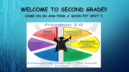 WELCOME TO SECOND GRADE!! COME ON IN AND FIND A 'GOOD FIT SPOT' !!