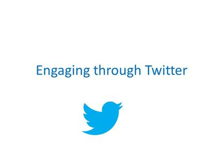 Engaging through Twitter. Social media in the UK 2.