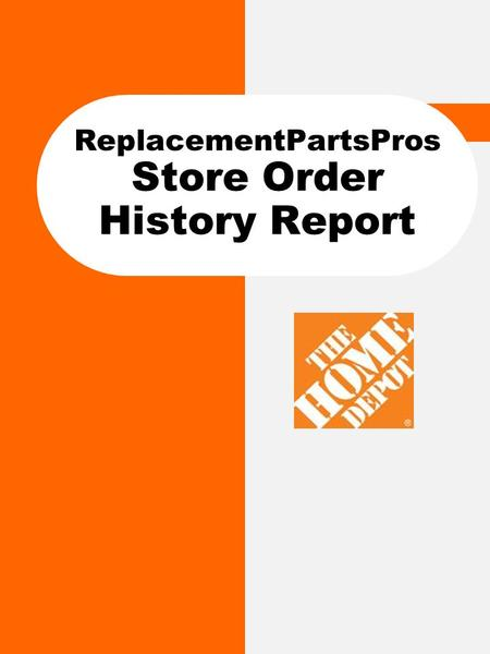 "ReplacementPartsPros Store Order History Report. How to… Run the Store Order Report The ""Store Order History"" report allows you to look at a history of."