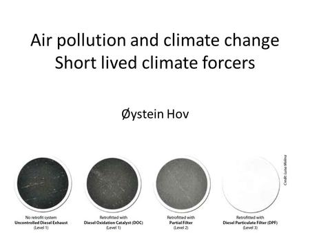 Air pollution and climate change Short lived climate forcers Øystein Hov.