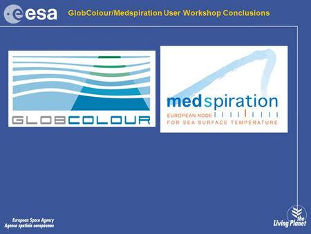 GlobColour/Medspiration User Workshop Conclusions.