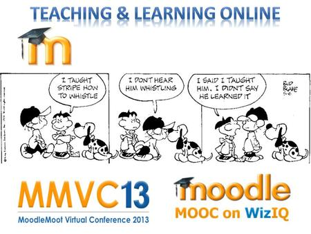 May 2013 Part 1: Teaching & Learning Online with Course and Learning Management Systems Part 2: Teaching & Learning Online with Moodle Part 3: Teaching.