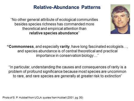 Relative-Abundance Patterns