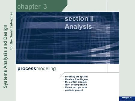 section II Analysis Systems Analysis and Design