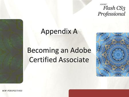 Appendix A Becoming an Adobe Certified Associate.