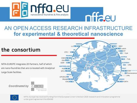 NFFA-Europe has received funding from the European Union's Horizon 2020 research and innovation programme under grant agreement No 654360 AN OPEN ACCESS.